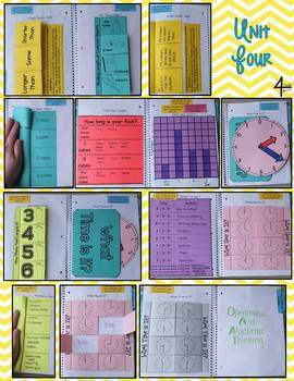 FIRST GRADE Math Interactive Notebook Bundle- Activities for Young Math Minds