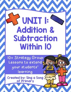 FIRST GRADE Math Strategy Group Lessons- UNIT 1