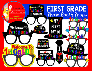 FIRST GRADE PHOTO BOOTH PROPS