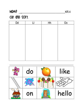 FIRST GRADE READING STREETS - KINDERGARTEN REVIEW: SOUND PICTURE SORTS
