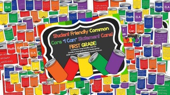 FIRST GRADE Student Friendly I CAN Statements