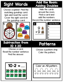 FIRST GRADE Gingerbread Task Cards