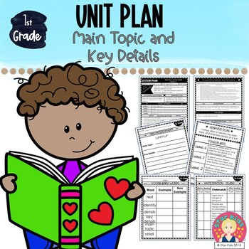 Main Topic and Key Details ~ FIRST GRADE UNIT {RI.1.2; RI.1.1} - EDITABLE