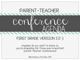 FIRST GRADE parent-teacher conference agenda (option #2!) :)