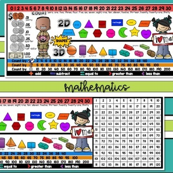 EDITABLE FIRST Grade NAME PLATE with SKILLS {Desk Helper}