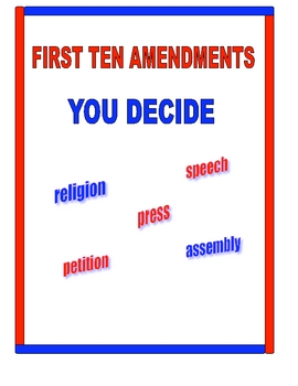 FIRST TEN AMENDMENTS BILL O... by Ruth S.   Teachers Pay Teachers