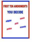 FIRST TEN AMENDMENTS BILL OF RIGHTS