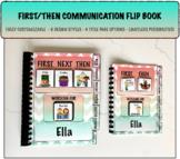 FIRST/THEN Communication Visual Schedule Flip Book PECS
