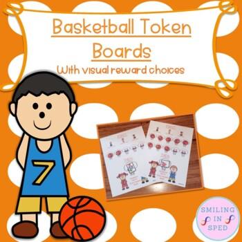 First/Then Token Board- BASKETBALL