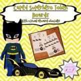 First/Then Token Board- CAPED SUPERHERO