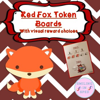 First/Then Token Board- FOXES