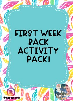 FIRST WEEK BACK ACTIVITY PACK