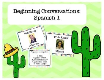 FIRST WEEK OF SCHOOL!! Beginning Spanish Intro Conversations: Spanish I