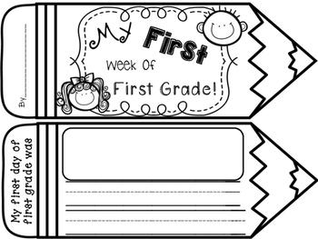 FIRST WEEK of 1st Grade Book