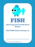 FISH (Find Important Stuff Here) Binder Cover