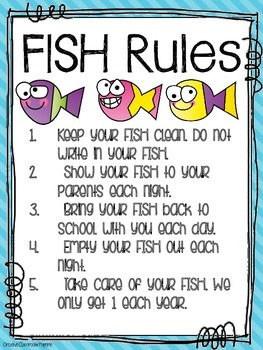 F.I.S.H. Folder {Family Involvement Starts Here} Parent Communication Tool