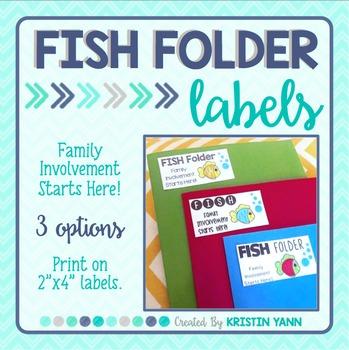 FISH Folder Labels (for take home or homework folders)