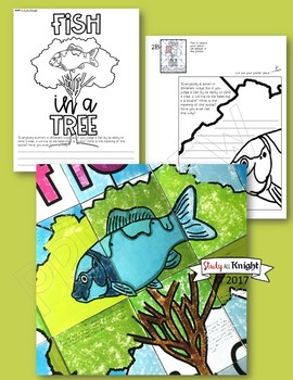 FISH IN A TREE, COLLABORATIVE POSTER, WRITING ACTIVITY, CREATIVE FUN