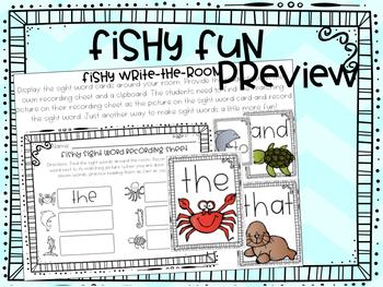 FISH - Kindergarten Science journal, book, and activities