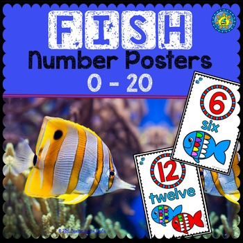 FISH Math Number Posters 0 - 20