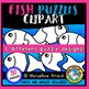 FISH PUZZLES CLIP ART: SELF-CORRECTING PUZZLE TEMPLATES: SUMMER CLIPART