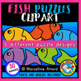 FISH PUZZLES CLIP ART: SELF-CORRECTING PUZZLE TEMPLATES: S