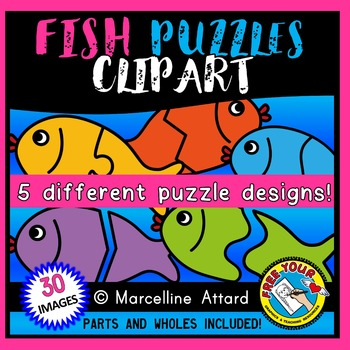 FISH PUZZLES CLIP ART: SELF-CORRECTING PUZZLE TEMPLATES: S