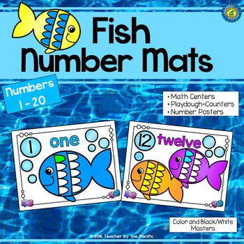 FISH Playdough Number Counting Mats 1-20
