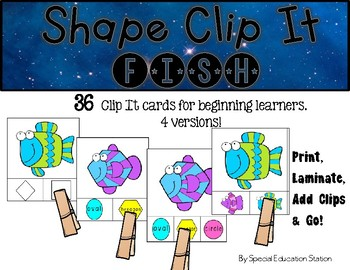 FISH Shape Clip It {A Beginning Work Task)