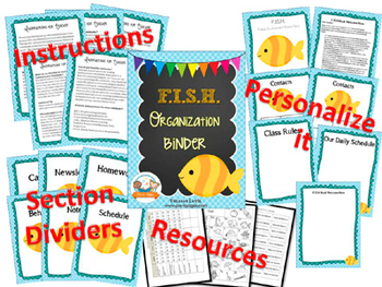 FISH Student Organization and Parent Communication Binder {personalize it}