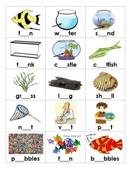 FISH TANK - a fishy short vowel game