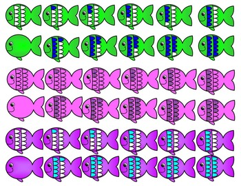 FISH TEN FRAMES- SUMMER TEN FRAMES- COMMERCIAL USE- 159 images