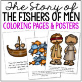 FISHERS OF MEN Coloring Pages and Craft Set, Christian Resources