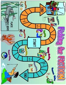 FISHING FOR FICTION  Printable Game  Grade 2-3