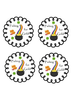 FISHING FOR GOLD St. Patrick's Day themed treat labels