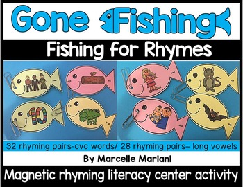 FISHING FOR RHYMES- RHYMING LITERACY CENTRE ACTIVITY
