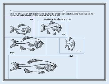 FISHY MATH: ADDITION & COLOR ACTIVITY K & 1