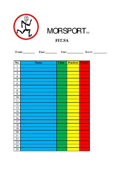 FIT.SA Program Recording Data Sheets
