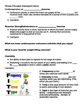 FITT Principle PowerPoint Notes