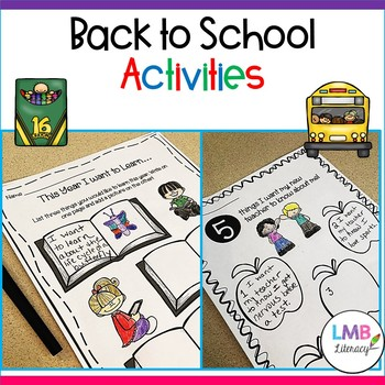FIVE Back to School Activities! Writing prompts, poetry, games, and more!