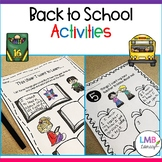 Back to School Activities, First Day of School