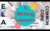 Secondary English SUB PLAN BUNDLE Narrative Writing Lessons for 5 ELA Sub Plans