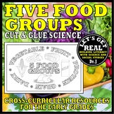 Foods and Nutrition: FIVE FOOD GROUPS (Cut-and-Glue Science)