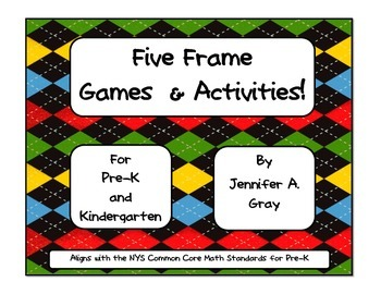 FIVE FRAMES GAMES for Pre-K! (10 games)