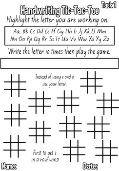 FIVE FREE Handwriting buddy tasks to improve letter formation. NZ Font.