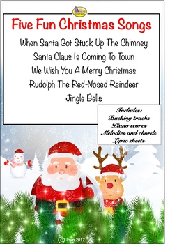 FIVE FUN CHRISTMAS SONGS - BUMPER PACK!
