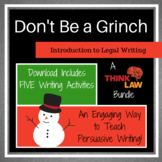 FIVE Holiday Persuasive Writing Lessons Using REAL-LIFE Court Cases