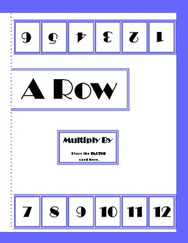 FIVE-IN-A-ROW: Division and Multiplication GAME