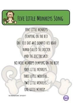 FIVE LITTLE MONKEYS LESSON PLAN SAMPLE