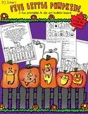 Five Little Pumpkins Clip Art & Printable Bulletin Board
